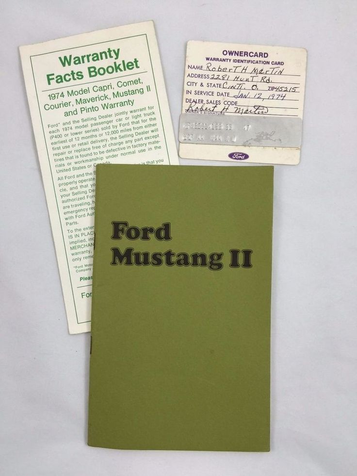 7 best cars owners manual images on pinterest owners manual 1974 ford mustang ii original owners manual warranty owner card fandeluxe Image collections