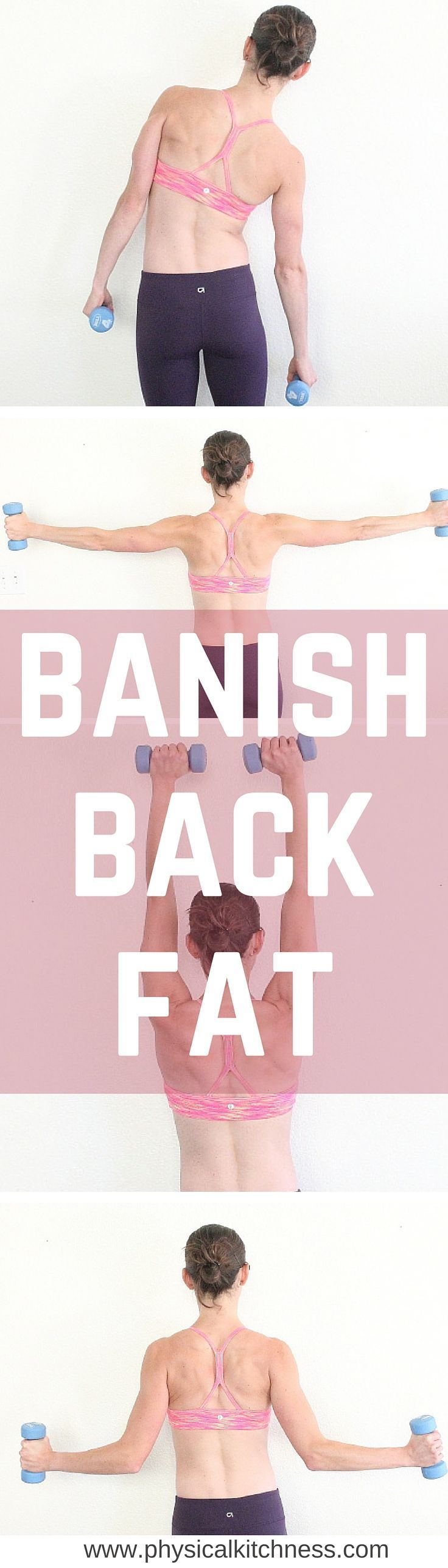 An AMAZING workout to sculpt all those sexy back muscles! Banish the back fat HERE! #livehealthy
