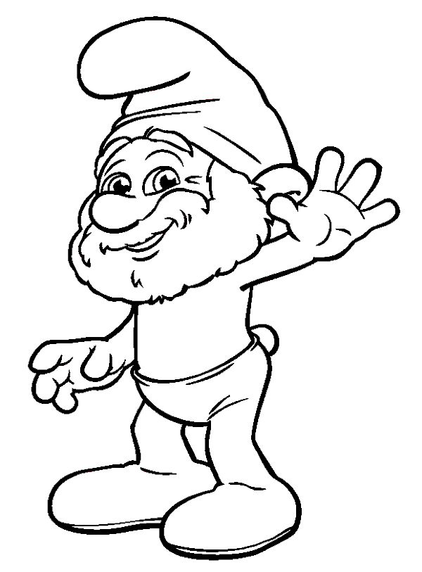 Papa smurf greet smurfs coloring pages pinterest for Papa smurf coloring pages