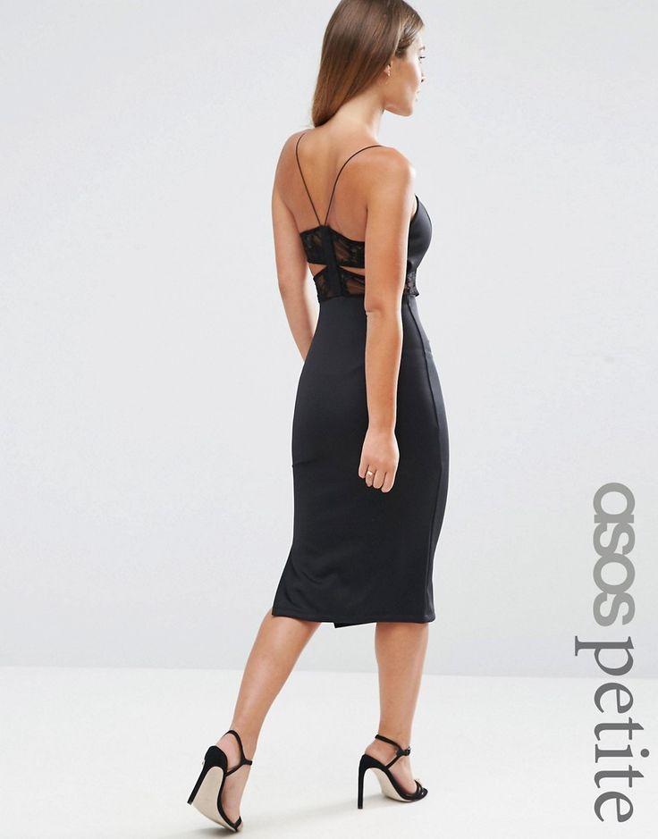 ASOS+PETITE+Midi+Dress+with+Lace+Bra+Back