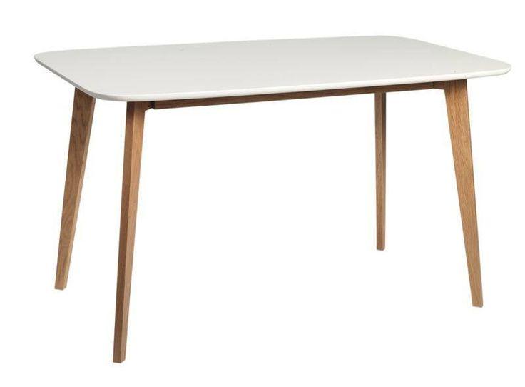 Link Spisebord. Hvidlakeret bordplade, ben i matlakeret egetræ. 80  130. Unoliving. 2399,- kr.