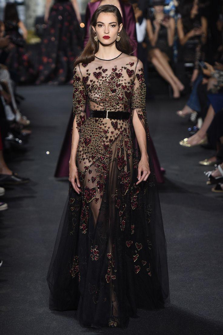 True romantic, Elie Saab Fall 2016 Couture Fashion Show - Camille Hurel