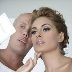 GALILEA MONTIJO el dia de Si boda. Love the makeup