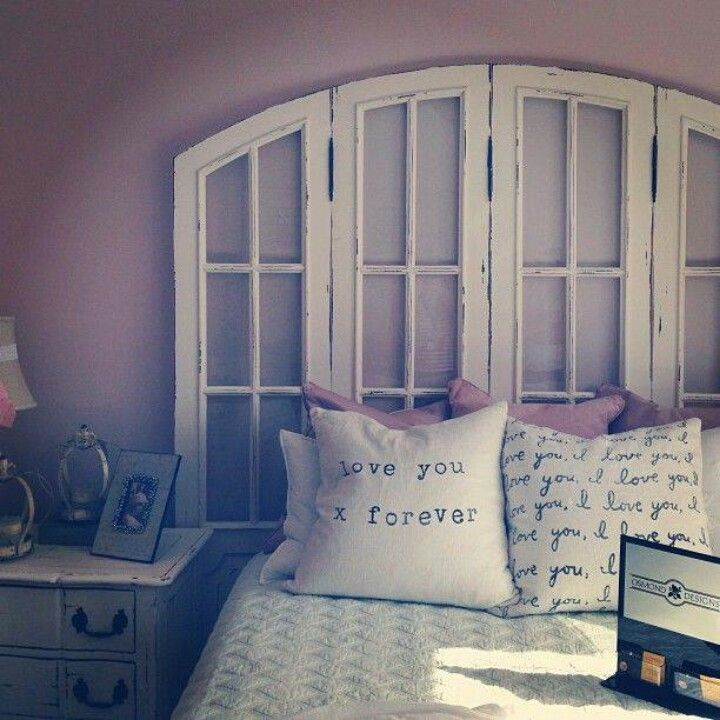 Old Window headboard