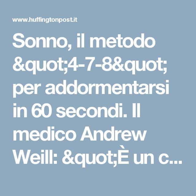 """Sonno, il metodo """"4-7-8"""" per addormentarsi in 60 secondi. Il medico Andrew Weill: """"È un calmante naturale per il sistema nervoso"""" (FOTO)"""