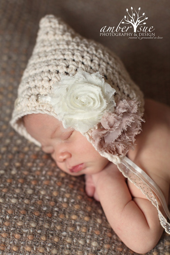 baby bonnet by oops i knit it again on etsy