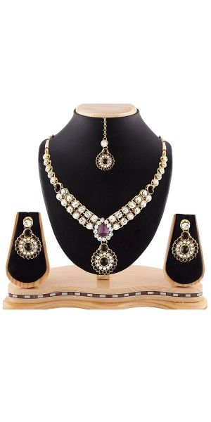 Women's Creative Necklaces in White,Maroon And Gold Color.