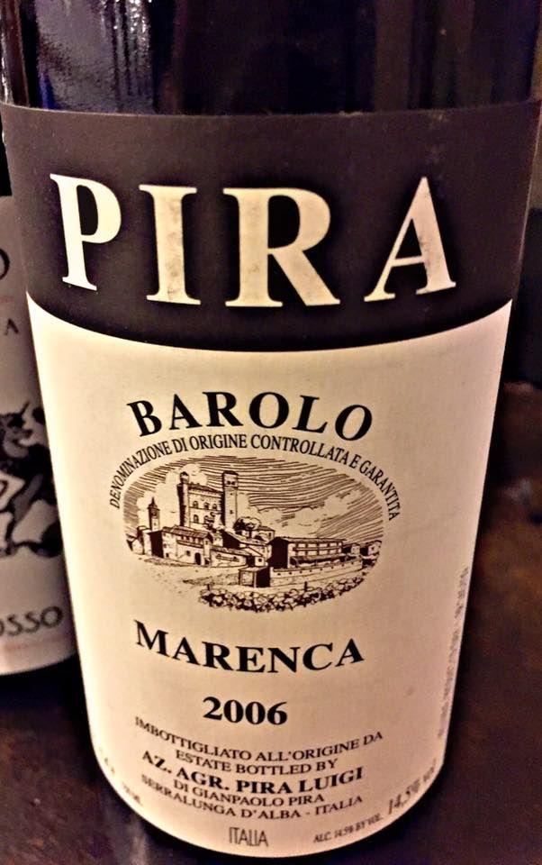 El Alma del Vino.: Azienda Agricola Pira Luigi Barolo Marenca 2006.