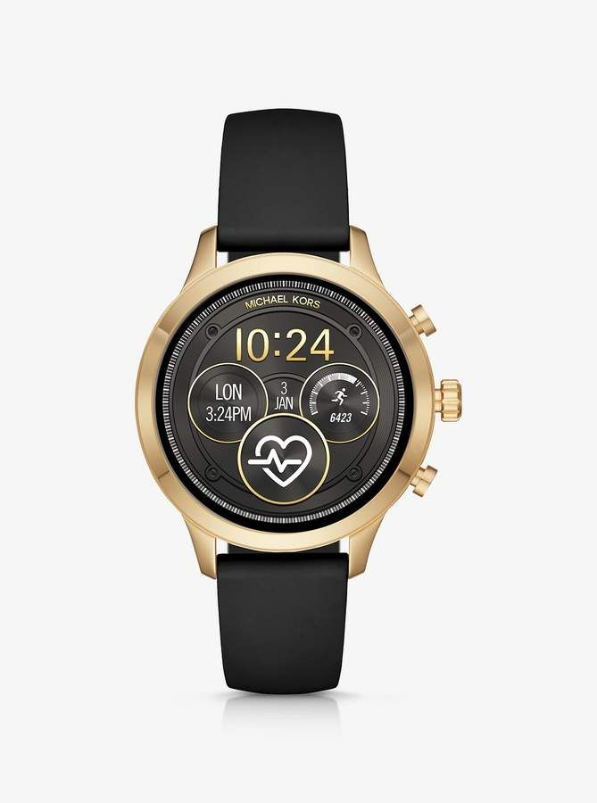 Gen 4 Runway Gold Tone And Silicone Smartwatch Michael Kors Damenuhr Smartwatch Michael Kors