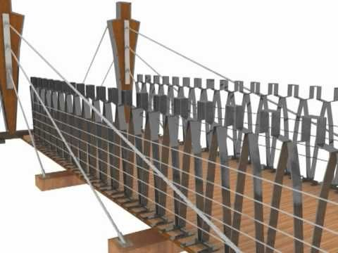 Puentes Magicos. Puentes de Madera - YouTube. Puente Madera. Pasarela madera. Wood Bridge. Timber Bridge. Footbridge. Wood. Madera. www.mediamadera.com