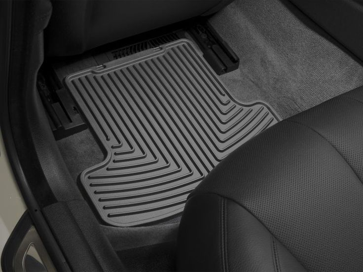 WeatherTech 2010-2016 Dodge Ram 3500 2500 1500 Rear All Weather Floor Rubber Mats - Black (Trim Required For Quad Cab)