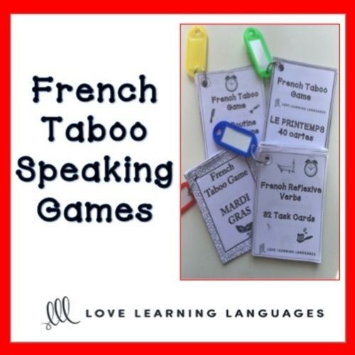 DOWNLOAD YOUR FREE FRENCH TABOO GAME: PAYS ET VILLESCheck out all of my different FRENCH TABOO gamesTaboo games are my absolute favorite activity to get my students speaking. Watch my tutorial on how to use French taboo games with your students to dramatically increase vocabulary and speaking abilities for beginner, intermediate and advanced students.