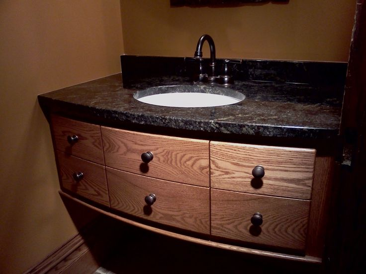 Pic On Excellent Black Granite With Six Drawers Teak Wood Materials At Bathroom Vanities With Tops Single White Washbasin And Cool Stainless Taps On Broken White