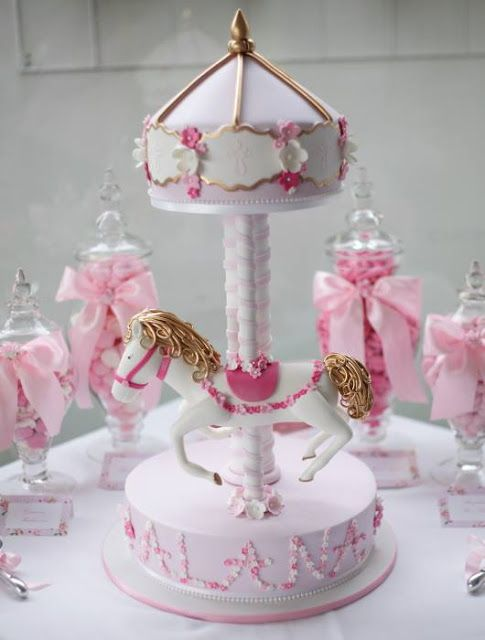 Little Big Company | The Blog: Pink Carousel Themed Christening Party by Le Petit Party