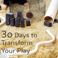 30 Days to Transform Your Play   Reggio Emilia Inspired Play at Home