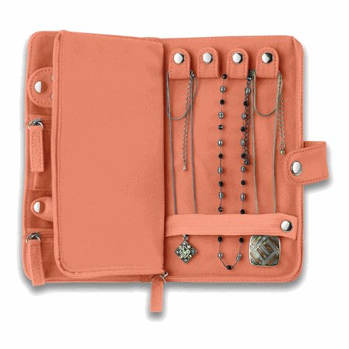 Leather travel jewelry case $21... I NEED this. Every time we travel, my husband has to untangle all of my necklaces upon arrival :/