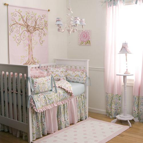Love Birds Crib Bedding   Baby Girl Crib Bedding in Pink Blue and Green   Carousel Designs 500x500 image: Carousels Design, Cribs Beds, Rooms Ideas, Baby Girls, Baby Rooms, Nurseries Design, Girls Nurseries, Girls Rooms, Baby Nurseries