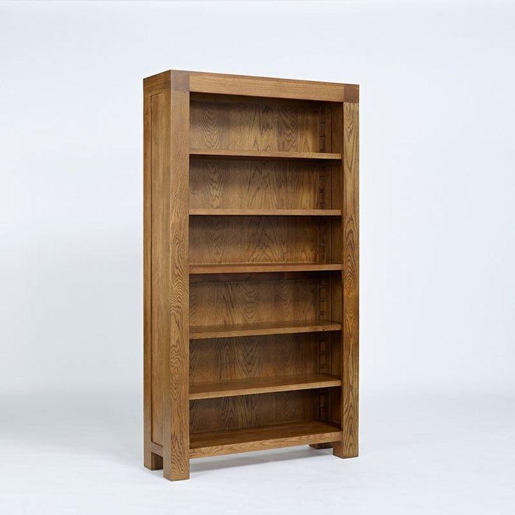 Santana Rustic Solid Oak Bookcase Storage Cupboard