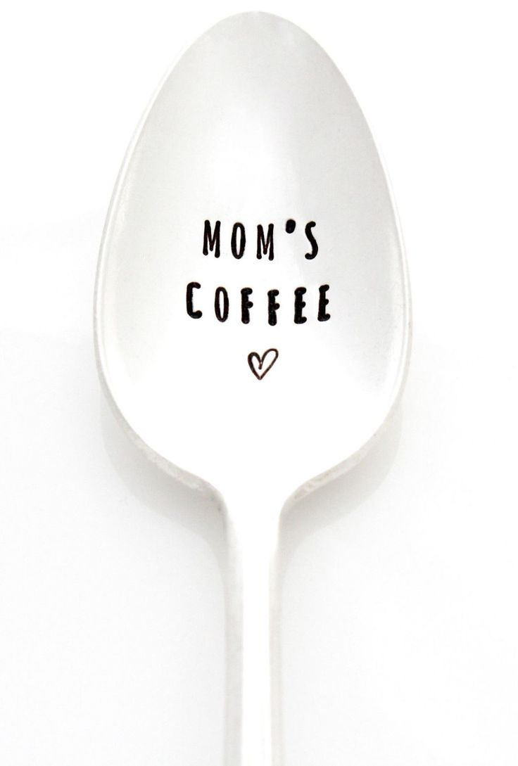 From Milk Honey Luxuries And Martha Stewart S American Made Program Mom S Coffee Vintage Hand Stamped Silverplate Spoon