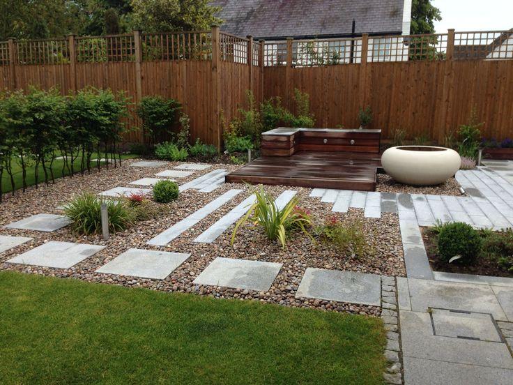 Perfect Country garden contemporary garden design granite paving plank paving