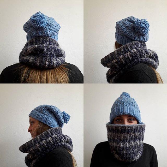 #winteriscoming #crochethat #crochetcowl #doublecowl #staywarm