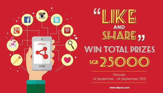 It's Your turn Singapore..! Let's Grab the Grand Prize.! Like and Share now and start to get the points. info : http://ow.ly/Sdpb6  ‪#‎Airpazcontest‬ ‪#‎Singapore‬ #LikeAndShare