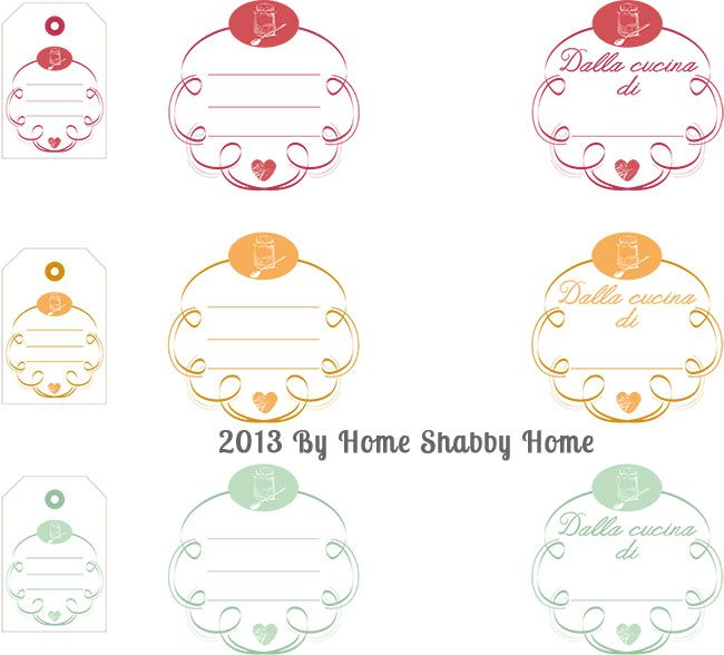 Home Shabby Home:{Free Printables}: Etichette per marmellate e conserve