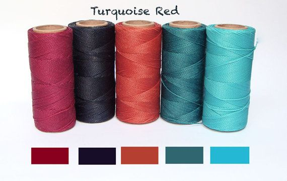 Macrame Cord Set of 5 Different Colors 10 yards by ColorSupply
