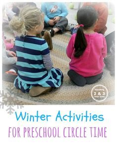 Kids winter activities for circle time - songs, stories, group learning activities- Teaching 2 and 3 Year Olds