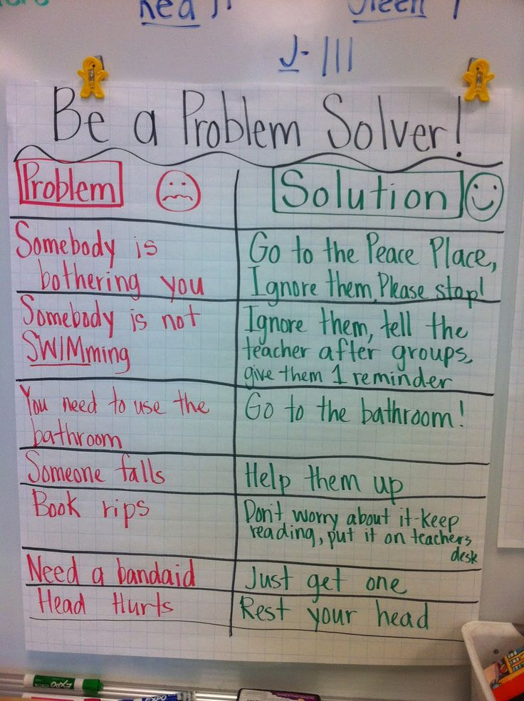Chart for beginning of year--I tell my kids to problem solve all the time, so they can be more independent!
