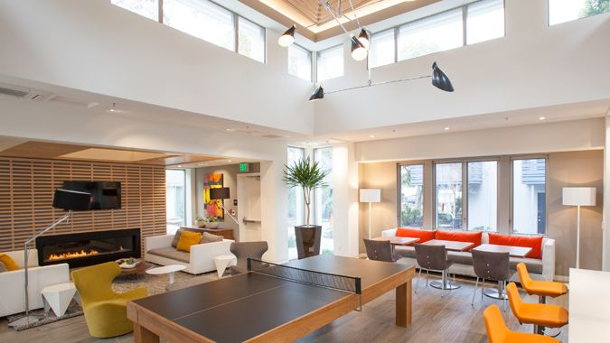 Unwind at the Sunnyvale luxury apartments clubhouse.