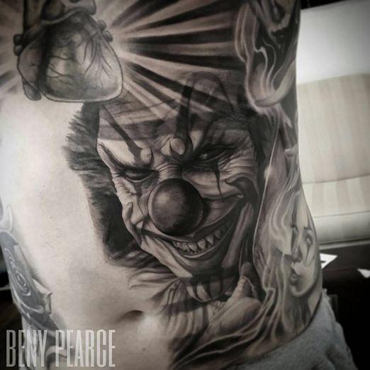 194 best scary clown tattoos images on pinterest clown tattoo rh pinterest com evil clown tattoo studio evil clown tattoo design
