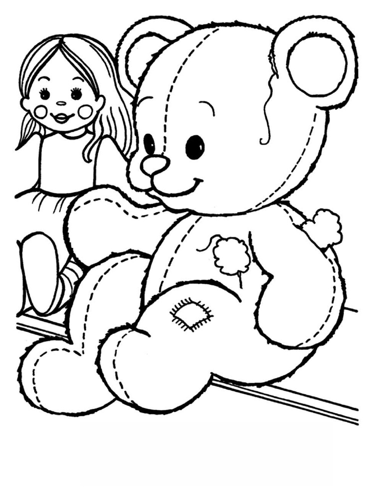 97 best images about coloring pages teddy bears on for Teddy coloring pages