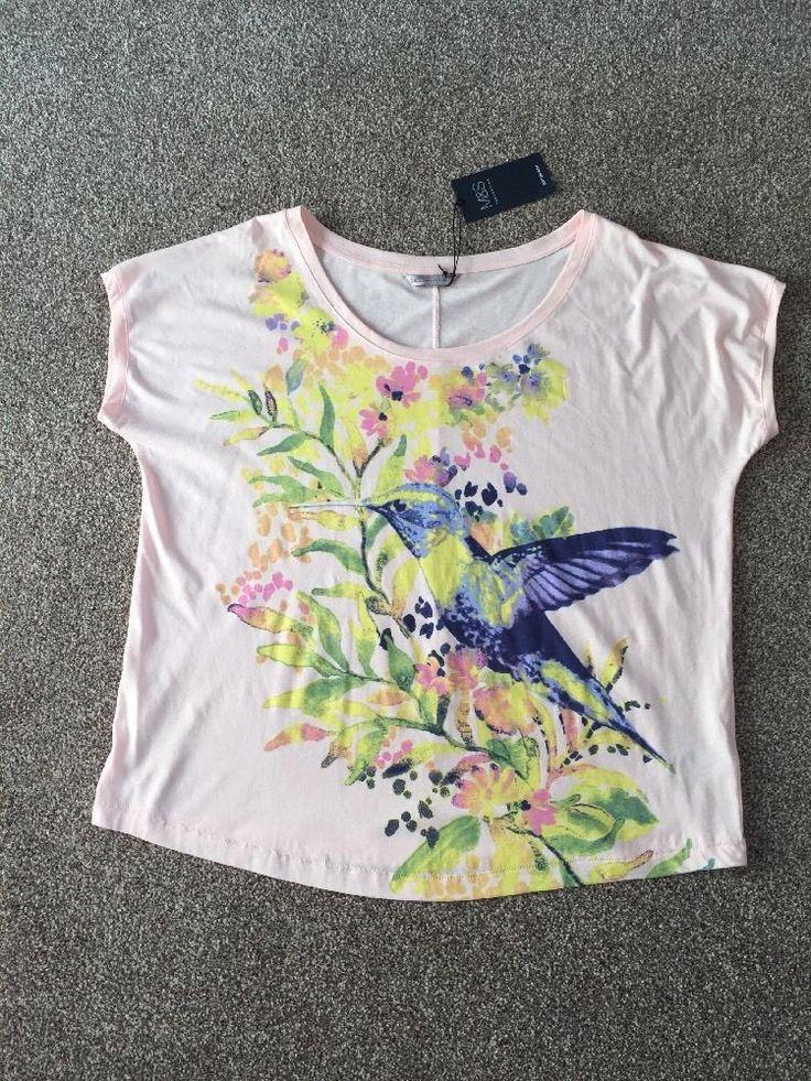 M&S Collection Cotton Rich UK22 EU50 BNWT Ladies T-Shirt/ Top    eBay
