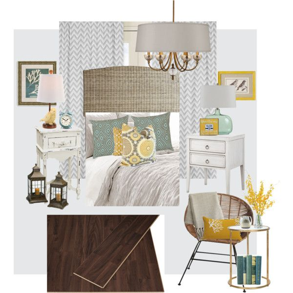 Teal Gray Yellow Bedroom By Brooke Shelton Brock On Polyvore