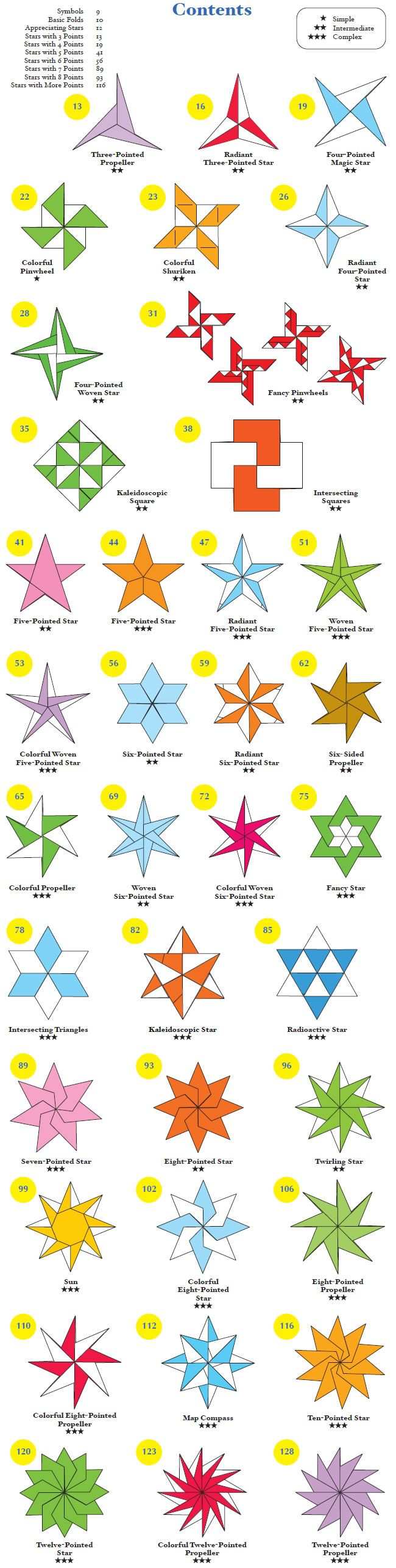 Welcome to Dover Publications  Origami Stars *
