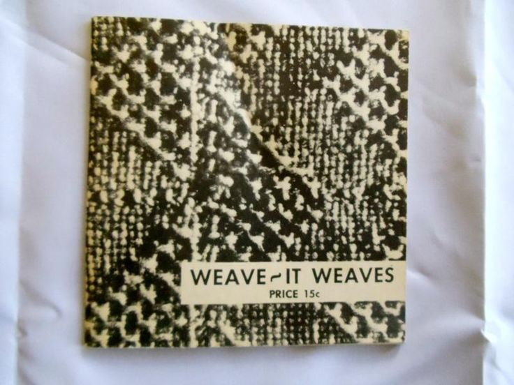 Vintage weave it weaves pattern book