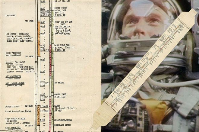 In-flight Plan Used by 1st American in Orbit John Glenn Heads to Auction