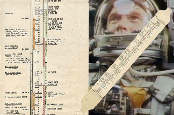 In-flight Plan Used by 1st American in Orbit John Glenn Heads to Auction