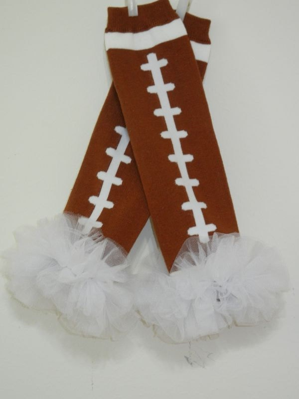 Football Tutu Leg Warmers............ Choose your ruffle color. $12.00, via Etsy.