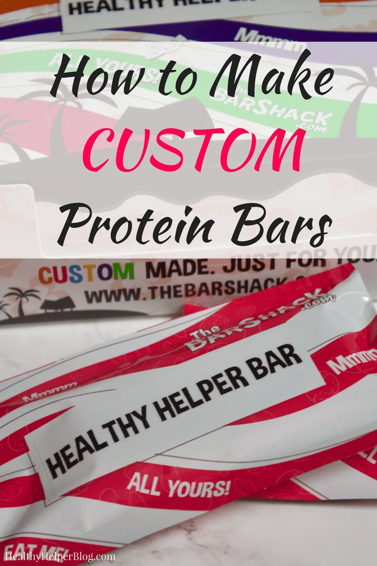 How to Make CUSTOM Protein Bars | Healthy Helper A step by step guide to making your own CUSTOM protein bar! YOU get to choose the specific ingredients, macros, flavors, and textures in your very own one of a kind bar. The ultimate snack to fit your lifestyle!