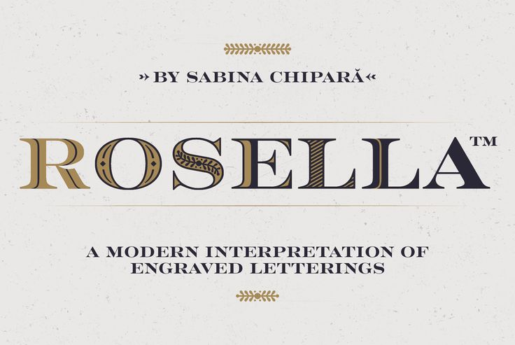 Introducing Rosella, a contemporary decorative typeface by Sabina Chipara | Monotype