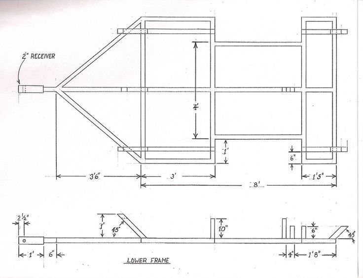 trailer frame diagram   21 wiring diagram images