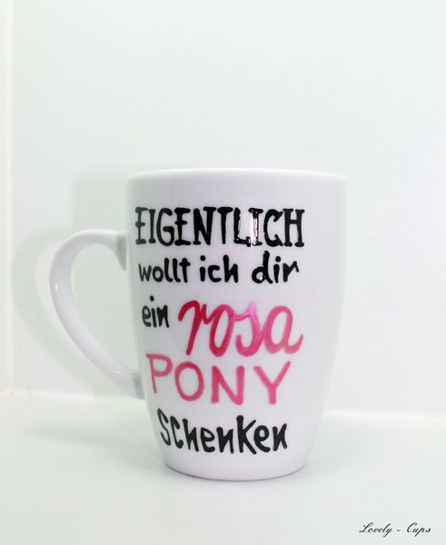 lustige tasse mit spruch pony spruch kaffeebecher ponys. Black Bedroom Furniture Sets. Home Design Ideas