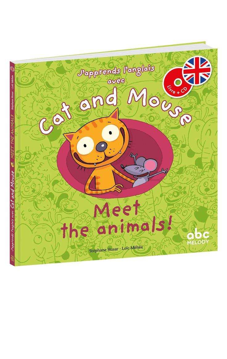 """Avec Cat and Mouse : Meet the animals!, les enfants vont rencontrer de drôles d'animaux, apprendre leurs noms et découvrir leurs cris en anglais. Saviez-vous qu'une vache anglaise dit """"moo"""" ? Imaginez ce que disent le coq, le cochon, la vache... Sur le CD audio offert : dialogues à écouter, à répéter, bruitages et musique."""