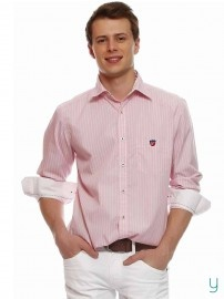 #American Swan #Men Star Lounge #Striped #Pink #Shirt @YuvaStyle India