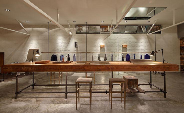 Un nouveau concept de magasin pour Wenzhou label de mode masculine Atelier par Fapai fait usage de bois mis au rebut de la Chine | Mode | Wallpaper * Magazine