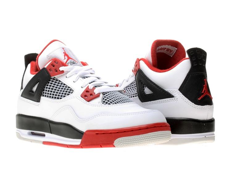 abordables à vendre Air Jordan 4 Retro Bg Homard Blanc / Noir / Rouge Gymnase Basketballschuh vente site officiel site officiel sortie pas cher parfait pas cher tCgtcXws