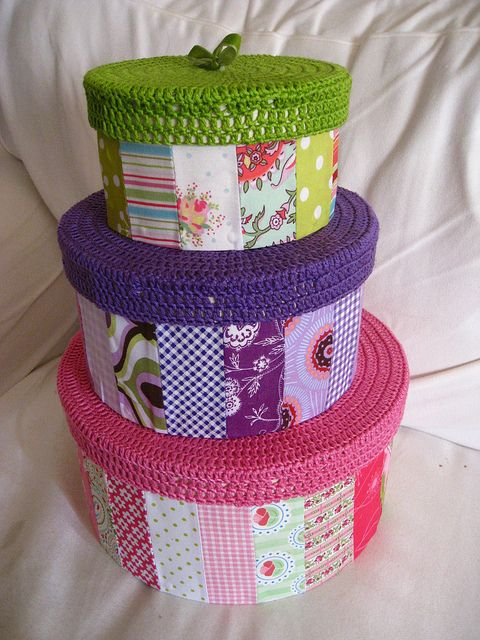 crochet and patchwork box