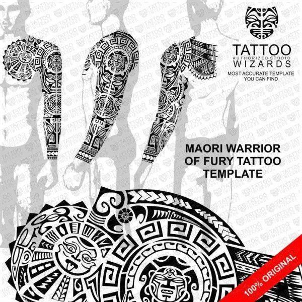 Maori Warrior Of Fury Vector Tattoo Template Stencil Tattoo
